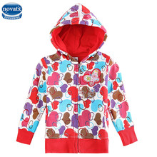 novatx F3333 children clothes hoody hot design girls winter jackets with dot allover zip-up kids coat baby girl fashion jacket