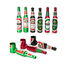 5Pcs/Lot Small Mini Beer Bottle Metal Pipe Many Colors Creative Cheap Smoking Pipes Best Gift For Smoker Portable Tobacco Pipe(China)