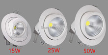 Adjustable LED Downlight 10W 15W 20W 25W 30W 40W 50W COB Gimable Rotation Lampada Recessed Fixture for Clothing Shoe Store(China)