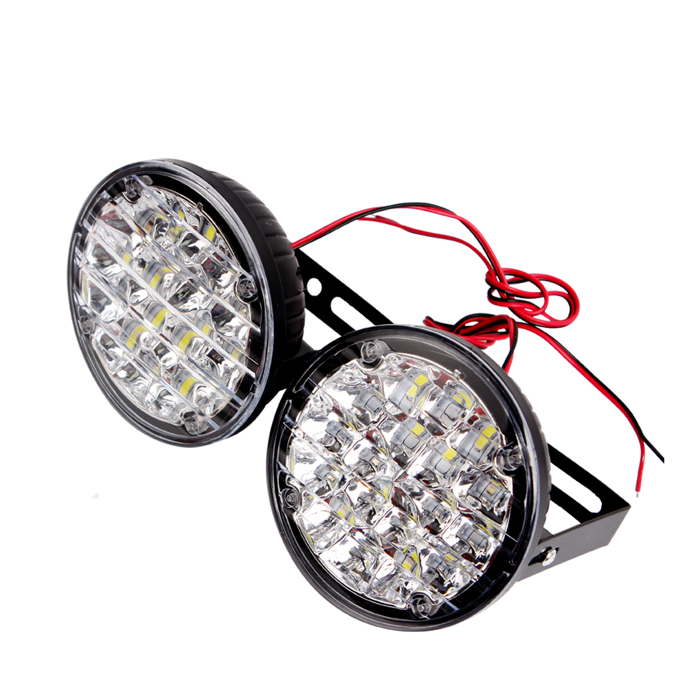 ITimo 18 LEDs 12v Auto Lamps LED Car Daytime Running Light Car Styling Car Lights DRL 18w 1 Pair Car Fog Lamp<br><br>Aliexpress
