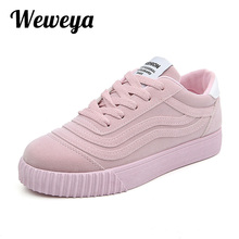 Weweya Fashion Women Vulcanize Shoes Casual Shoes Woman Canvas Platform Ladies Shoes Sneakers Zapatos Tenis Feminino Size 35-43(China)