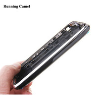Running Camel Rear Back Cover Housing with Metal Silver Bezel Frame for Apple iPhone 3G 3GS 8GB 16GB 32GB Battery Door