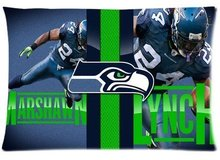 16x24 20x26 20x30 inch Soft Flannel Rectangle cushion pillow cases Seattle Seahawks Pillowcase for Football Fans
