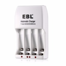 EBL 4 Slot Battery Charger AA AAA NiMH NiCd Travel Rechargeable Batteries 4-Bay Charger Universal free shipping(China)