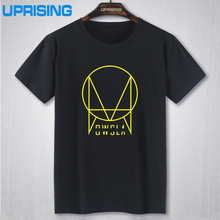 New Summer OWSLA Logo T Shirt Men DJ Skrillex T-Shirt Short Sleeve Cotton Men Hip Hop Tee Shirt Tops Free shipping