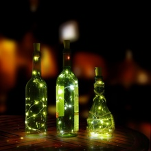 String Lights LED with Bottle Stopper Fairy Lights Christmas Wedding Decoration Lights 20 LED Halloween(China)