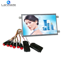 10 inch 1080P open frame shopping button control video digital optical out USB SD lcd screen advertising player