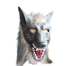 New Arrival Halloween Suppliers Wolf Mask Latex Animal Prop For Halloween Dropshipping Maschera di Halloween Hot Sale(China)