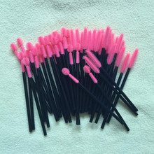 Free Shipping 500Pcs One Off Silicone Disposable Eyelash Brushes Make-up Applicators Makeup Tools excellent quality(China)