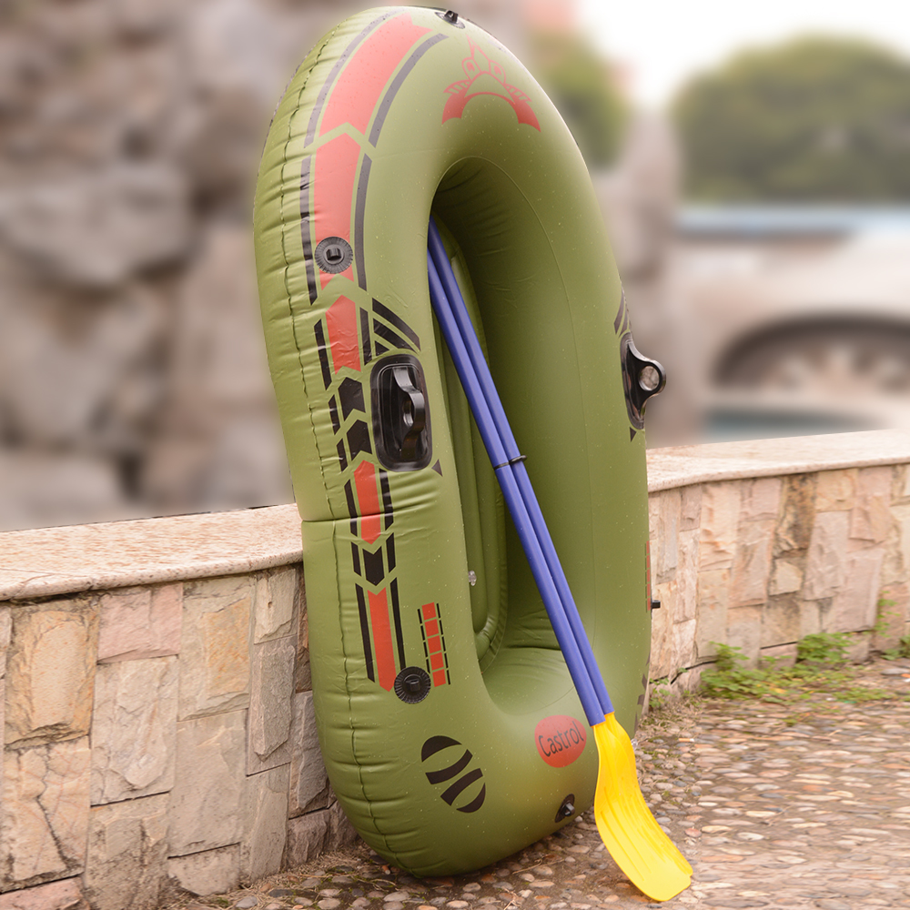 1 Person Inflatable Fishing Boat High Quality Liferaft Rubber Boat 170x100cm PVC Portable Drifting Fishing Boat with Paddles (19)