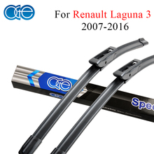 OGE Pair Wiper Blades For Renault Laguna 3 2007 Onwards Windshield Natural Rubber Wipers Auto Car Accessories Windscreen(China)