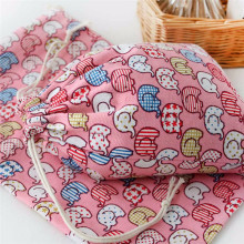 2017 Special Purpose Bags Elephant Printing Drawstring Beam Port Storage Bag Candy Bags Gift Cotton cloth Comfystyle Dropship