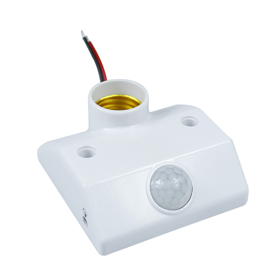 LED Bulbs E27 Base Human Body Sensor E27 Holder Socket With Automatic Body Infrared IR Sensor PIR Motion Detector<br><br>Aliexpress