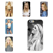For Apple iPhone 4 4S 5 5C SE 6 6S 7 7S Plus 4.7 5.5 Soft TPU Silicon Cell Phone Case carrie underwood pad computer