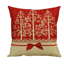 Vintage Christmas Sofa Bed Home Decor almofadas coverCushion Cover Cotton Linen Square Pillowcase