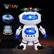 Lovely Electric Smart Space Walking Dancing Robot for Children Kids Music Light Model Safe Toys Pets Gift(China)