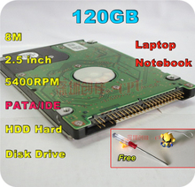 "2.5"" HDD PATA IDE 120GB 120g ide 5400RPM 8M Internal Hard Disk Drive laptop notebook Free Shipping screw driver free"