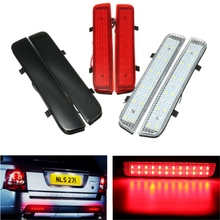 2Pcs 24 LED Rear Bumper Reflector Tail Brake Driving Reverse Turn Light For Land Rover L322 2003-2012 /Freelander 2 / LR2 08-13