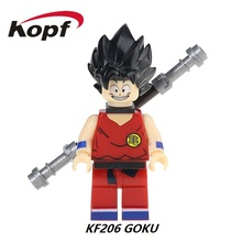 Single Sale Super Heroes Star Wars Dragon Ball Z Figures Son Goku Vegeta Master Roshi Building Blocks Children Gift Toys KF206
