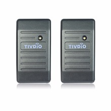 TIVDIO 2pcs Access Control Proximity For RFID Card Reader Wiegand 26/34 EM-ID 125KHz Reader & ABS Shell Waterproof F9505H