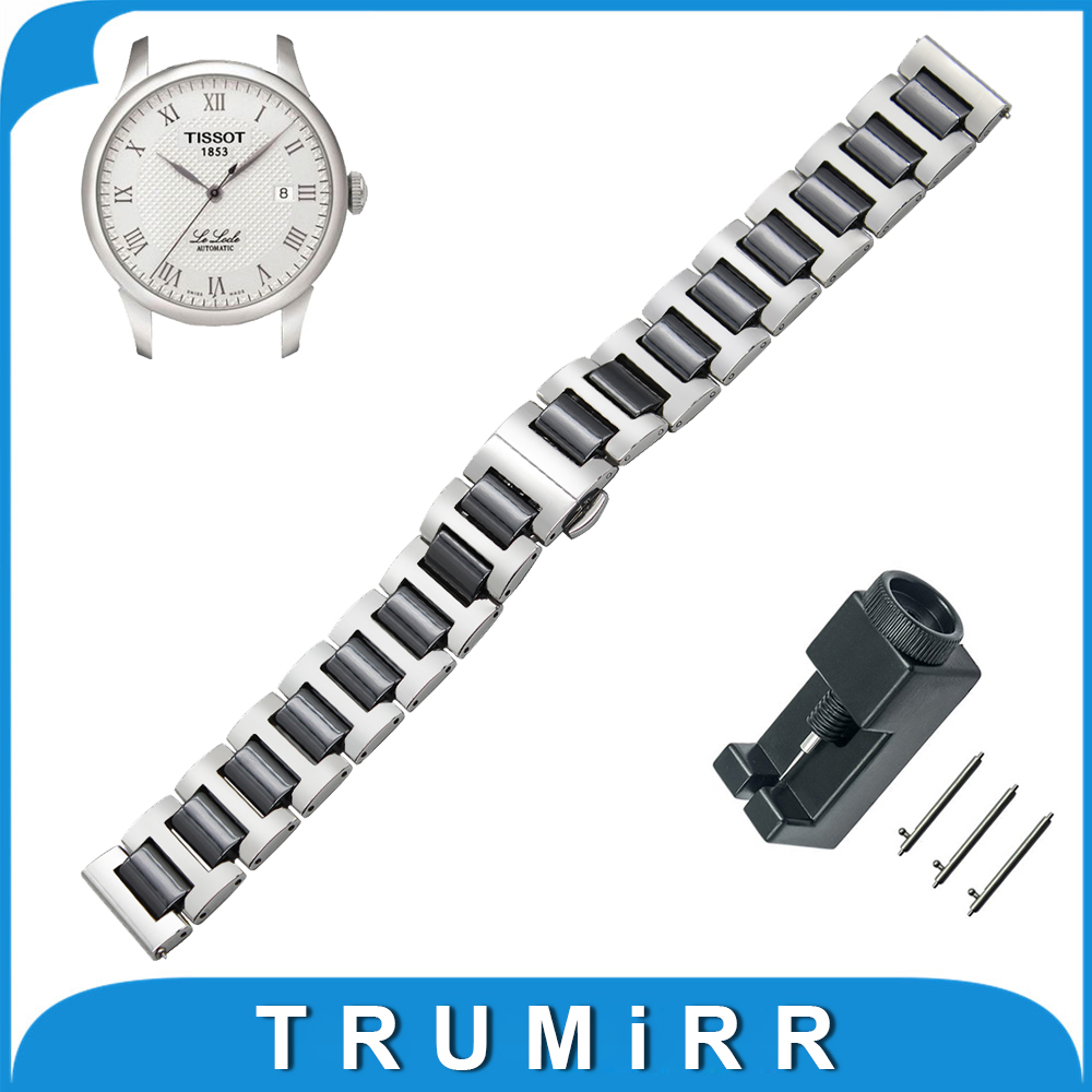 18mm 20mm 22mm Ceramic + Stainless Steel Watch Band for Tissot 1853 T035 PRC 200 T055 T097 Quick Release Strap Wrist Bracelet<br><br>Aliexpress