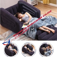 intex One Person Inflatable Pull-out Chair+Folding Inflatable Lounge Chair +Twin Inflatable Sofa couch  Guest  Lounge Sleep Bed