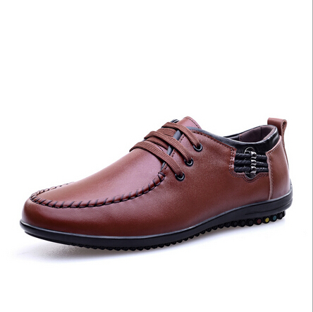 New Fashion Brand Designer Mens Casual shoes Genuine Soft Leather Loafer Lace-up Comfortable Driving Shoes Free shipping<br><br>Aliexpress