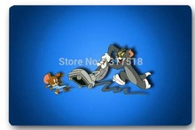 High quality customized Tom And Jerry Chasing Game 40x60cm door mat carpet Bath mat kitchen mats home decoration