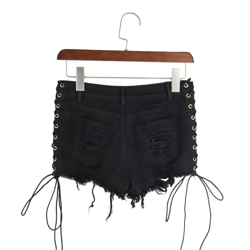 Lühikesed põimitavad mustad püksid