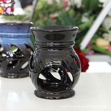 Black Incense Burner Fashion Ceramic Aromatherapy Furnace Candle Lamp Water Bowl Essential Candle Fragrance Oil Burner