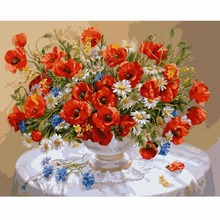 Some Like It Hot DIY Digital Painting Special Offer Hand-Painted Dining Room Flower Decorative Landscape Painting Acrylic Paint