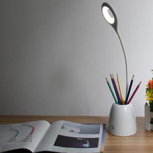 1Pcs LED small desk lamp eye protection desk charge rechargeable battery type creative children college student dormitory with c(China)