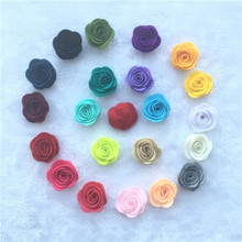 NEW 1.8inch Fashion non-woven fabrics felt rose flower Diy for hair accessories headband ornaments 10pcs(China)