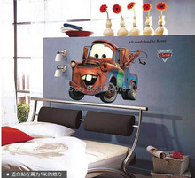 Free Shipping Good Quality New Extra Large Vinyl Pixar CAR Wall Stickers Kids Nursery Boys Room Art Decal Decor Sticker AY9007