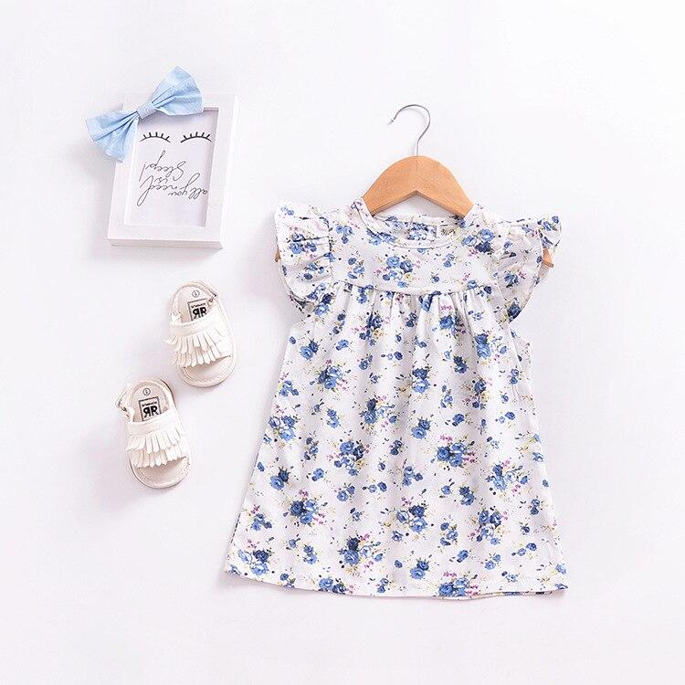 Mother nest 2018 Summer New Girls Flower Puff Sleeves Dress Cotton Children Kids Clothes Toddler Baby Birthday Kids Dresses (14)
