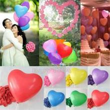 Romantic lovely Red Heart Shaped Pearl Latex Balloons Wedding Birthday Party Decor Valentines Day inflatable ball 100pcs/lot(China)