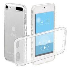 Rutschfeste Silikon Fall Für Apple iPod Touch 5/6 Fall Cover Transparent Weiche TPU Protective Zurück Shell Coque Für iPod Touch 5(China)