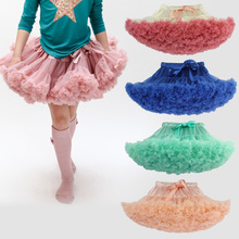 Candy Color Tutu Skirt For Girls Newest Children Clothing Fluffy Chiffon Pettiskirts Baby Girls Skirts Princess Party Costumes