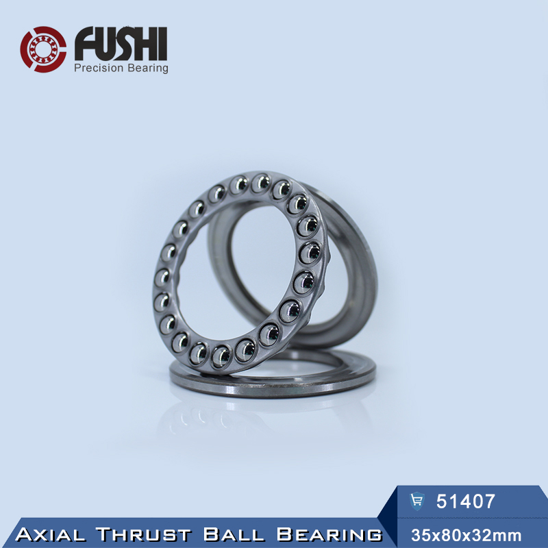 51407 Thrust Bearing 35x80x32 mm ABEC-1 ( 1 PC ) Axial 51407 Thrust Ball Bearings 8407<br>