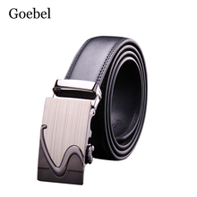 Goebel Black Belts Men High Quality PU Leather Luxury Leather Belts for Men Strap Metal Automatic Buckle Male Fashion Belts(China)