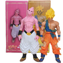Big Size 44cm The Last Boss Buu 1/4 Scale Painted PVC Action Figures Dragon Ball Z Super Saiyan Son Goku Toys Super Size Dolls(China)