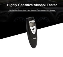 Greenwon New Mini LCD Digital Breath Accuracy Breathalyzer with backlight Alcohol Tester Analyser Auto power off free shipping