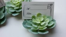 10pcs/Lot+Natural Themed Succulent Place Card/Photo Holders Unique Party Table Decoration Centerpiece+FREE SHIPPING