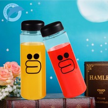 LINSBAYWU 1Pc 500ml fashion New multipurpose Outdoor sports Brown Bear bottle lemon juice readily  space  water bottles