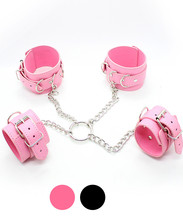 Buy PU Leather Hand Wrist Ankle Cuffs Bondage Slave Restraint Belt Adult Games,Fetish Erotic Sex Products Flirting Toys Women