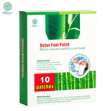 KONGDY New Arrival 10 Pieces/ Box Bamboo Vinegar Detox Foot Patch Detox Slim Foot Care Plaster Adhesive Detoxication Patch