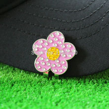 Free Shipping New Flower Fine Metal Alloy Golf Cap Clip Golf Hat Clip Golf Ball Marker, Wholesale Price