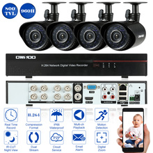 OWSOO 8CH CCTV System Full 960H/D1 Video Surveillance DVR with 4PCS 800TVL Outdoor Camera Night Vision Home CCTV Security System(China)