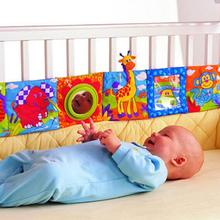 Kids Mirror Animal Bed Cognize Cloth Book Infant Baby Toy Cute Popular(China)