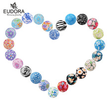 20PCS/Lot 20mm Colorful Painting Sweet Sound Bell Chime Ball inner Ball fit Harmony Bola Locket Cage Pregnant Jewelry(China)
